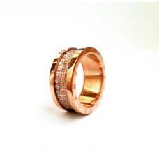 Кольцо BVLGARI (Розовое золото) 030