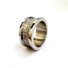 Кольцо BVLGARI (Белое золото) 032