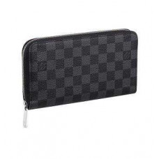 Кошелёк женский Louis Vuitton Zippy Multiple Damier Graphite КЛ001