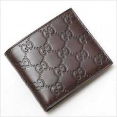 Мужской коричневый кожаный бумажник Gucci БГ012