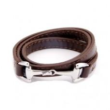 Кожаный браслет Gucci 0106