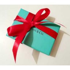 Фирменная упаковка с красной лентой маленькая Tiffany&Co -014