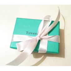 Фирменная упаковка с белой лентой маленькая Tiffany&Co -013