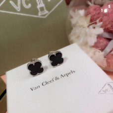 Серьги Van Cleef Black mini